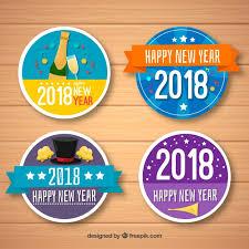 imagenes graciosas año nuevo 2018 colección graciosa de insignias de año nuevo 2018 descargar