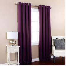 Thick Purple Curtains Gorgeous Home 32 1 Panel Solid Plum Purple Thermal Foam Lined