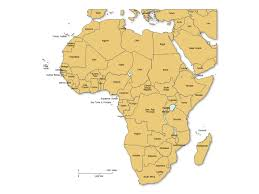 africa map with country names and capitals africa powerpoint map with countries labels maps for