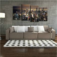 home decor stores chicago chicago skyline giant wall art home decor hd canvas print chicago