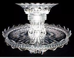 Crystal Pedestal Cake Stand Lead Crystal Pedestal 3 In 1 Cake Plate Stand Dip Platter Punch Bowl