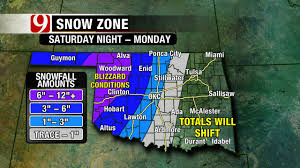 Oklahoma Weather Map Winter Storm Could Bring Freezing Rain Snow This Weekend News9