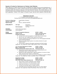 Resume Samples In Usa by Government Job Resume Template Haadyaooverbayresort Com