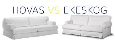 ikea slipcovers hovas vs ekeskog differences can i fit the hovas slipcover on