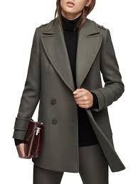 reiss maida relaxed pea coat lyst