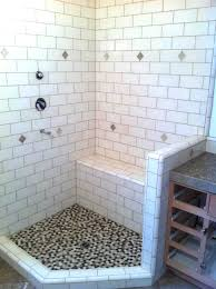 Subway Tile In Bathroom Ideas Subway Tile And Shower Bench In A Santa Cruz Summer Home