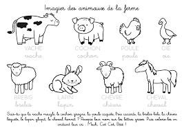 Coloriage à imprimer  Imagier des animaux de la ferme