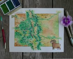 Map Of Colorado State by Watercolor Map Of Colorado W Details Album On Imgur