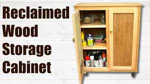 Wood Storage Cabinet Reclaimed Wood Storage Cabinet Woodworking Project Youtube
