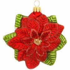raz imports 4 poinsettia ornaments poinsettia