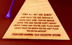 cracker barrel table game genius i conquered triangle peg board game