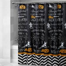 halloween chalkboard fabric shower curtain christmas tree shops