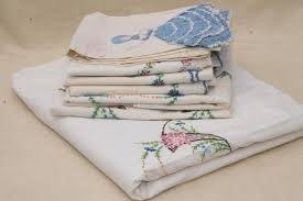 vintage sheets and pillowcases