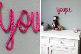 diy déco chambre bébé diy prénom en tricotin le meilleur du diy