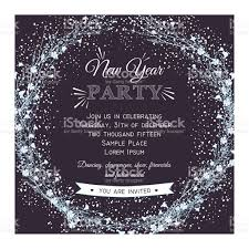 invitation card new year party invitation card stock vector more images of