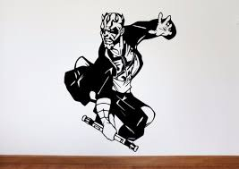 wall decals stickers home decor home furniture diy star wars wall decal darth maul star wars removable vinyl wall art