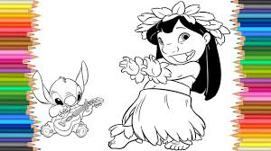 lilo u0026 stitch disney coloring page l coloring markers videos for