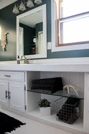 How To Paint Bathroom How To Paint Tile Countertops And Our Modern Bathroom Reveal