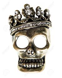 fashion halloween background pictures queen or king skull with crown halloween background stock photo