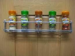 Cabinet Door Mounted Spice Rack 6 Single Tier Heavy Duty Spice Rack Chrome Kitchen Cabinet Door