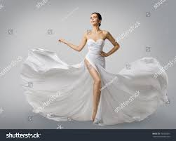Wedding Dress Elegant Woman White Dress Fashion Model Bride Stock Photo 708226897