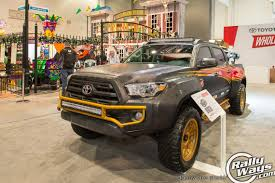 aftermarket lights for trucks 2016 tacoma sema toyota booth rallyways favorite tacomas