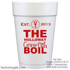 personalized crawfish trays small personalized styrofoam party cups for crawfish boil