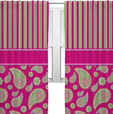 Curtains For Windows Decorating Pink And Green Striped Paisley Curtains For Windows