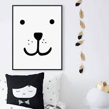 Kawaii Home Decor by Online Get Cheap Black Bear Prints Aliexpress Com Alibaba Group