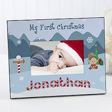 christmas personalized baby s christmas personalized picture frame