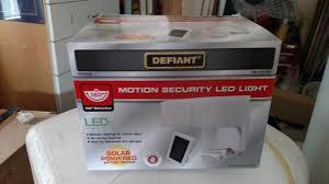 Defiant Solar Motion Security Light Defiant 180 Black Solar Powered Motion Led Security Light With