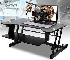 l shaped adjule height desk