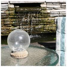Gazing Ball Pedestals Smart Solar Crackled Glass Gazing Ball Light With Tabletop Base