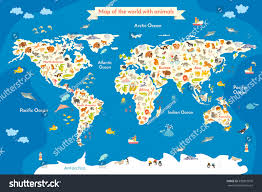 Map Of Europe For Kids by Cartoon Map North America Continent Riversmountains Stock Vector