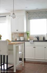 Bright Colored Kitchen Curtains Our Home Tour Modern Farmhouse Kitchens Modern Farmhouse And