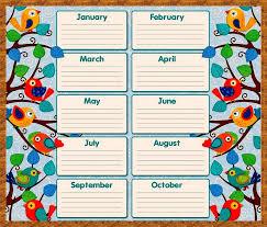 Free Birthday Calendar Template Excel Free Birthday Calendar Templates 2017 Blank Calendar Design 2017