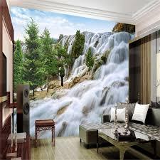 dessin mural chambre beibehang dessin grand rocky mountain cascade photo fond