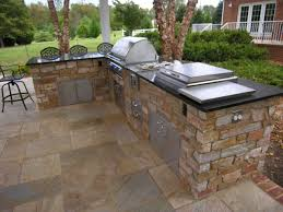 outdoor kitchen grill island kit barbecue party with an outdoor