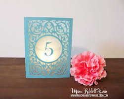 Laser Cut Table Numbers Merci Wedding Table Number Luminaries Table Numbers Table Decor