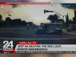 beating the red light jeep na beating the red light muntik makabangga video gma news