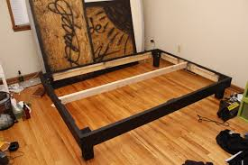 Platform Bed Frame With Storage Plans by Build A Queen Size Platform Bed On The Cheap And Learn Some Basic