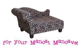 Zebra Print Chaise Leopard Chaise For Your Mancat Mancave Mousebreath Magazine