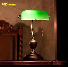 impressive green desk lamp traditional bankers desk lamp with