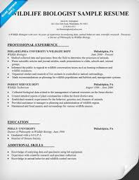 Veterinary Resume Sample by Wildlife Biologist Resume Sample Http Resumecompanion Com