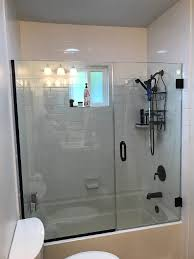 Glass Tub Shower Doors Tub Shower Door Patriot Glass And Mirror San Diego Ca