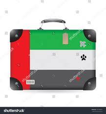 united luggage united arab emirates flag on bag stock vector 121830034 shutterstock
