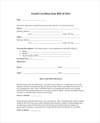 sample gun bill of sale 8 examples in pdf word