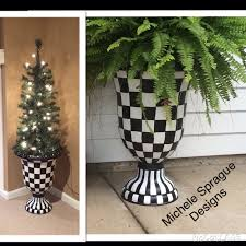 Harlequin Home Decor by Buy A Custom Painted Urn Planter Whimsical Painted Planter Urn