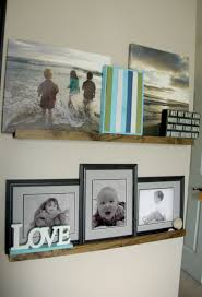 Wood Gallery Shelf by Diy Picture Ledge The Updates Gallery Wall
