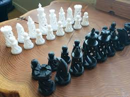 3d printed spiral chess set large by bigbadbison pinshape